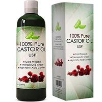 Pure USP Grade Castor Oil for Hair Growth Acne Prone Skin All-natural Cold Pressed and Refined Best