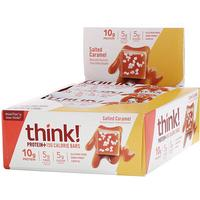 [iHerb] ThinkThin Protein+ 150 Calorie Bars, Salted Caramel, 10 Bars, 1.41 oz (40 g) Each