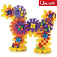 ◆Quercetti 60Years Made in Italy◆100% Genuine Gears go Round 80pcs/Toy Block Kids Toy Playing Sense of touch/Play Visual Coloful Building Blocks◆Toddler Gift