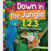 Down in the Jungle 1,2,3: A Rainforest Counting Book