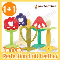 ★Perfection fruit teether 1+1★ Teething Toy / Non-toxic / BPA Free / Made in Korea [Come With Case]