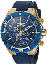 Invicta Men s Aviator Quartz Stainless Steel and Silicone Casual Watch Color:Blue (Model: 22525)