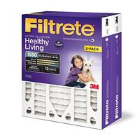 Filtrete Healthy Living Ultra Allergen Deep Pleat AC Furnace Air Filter Attracts Fine Inhalable...