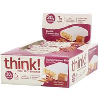[iHerb] ThinkThin High Protein Bars, Double Caramel Bliss, 10 Bars, 2.18 oz (62 g) Each