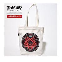 【HopesTaiwan】THRASHER TOTE BAG 托特包 -IVORY / 35TH LOGO