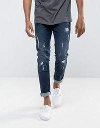 Blend Cirrus Skinny Fit Jean Ripped Dark Wash