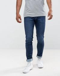 Mango Man Skinny Jeans In Dark Wash