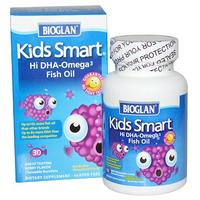 [iHerb] Bioglan Kids Smart, Hi DHA-Omega 3 Fish Oil, Berry Flavor, 30 Chewable Burstlets