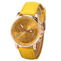 (HAH) Business Wrist Watch Casual Stainless Steel Back with Genuine Leather Band Analogue Display...