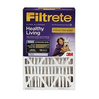 Filtrete 20x25x5 AC Furnace Air Filter MPR 1550 DP Healthy Living Ultra Allergen Deep Pleat 1...