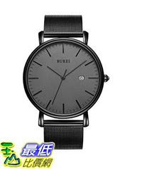 [8美國直購] 手錶 BUREI Men's Fashion Minimalist Wrist Watch Analog Date with Stainless Steel Mesh Band B06ZYXZNXY