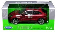 (Welly) New 1:24 W/B WELLY COLLECTION - RED PORSCHE MACAN TURBO Diecast Model Car By Welly-