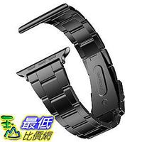 [107美國直購] 錶帶 JETech Replacement Band Apple Watch 38mm Series 1 2 3 with Metal Clasp Wrist Strap Black