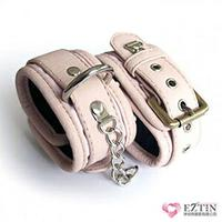 【伊莉婷】美國駭客 Toughage Cotton Lining Ankle Cuffs/ Locking Buckle-Pink 棉襯腳腕克制/鎖定 粉紅 TO-A150
