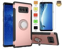 (L00KL) Galaxy Note 8 Case L00KLY [Slim Fit] Dual Layer Shockproof Armor [Carbon Fiber Soft TPU+...