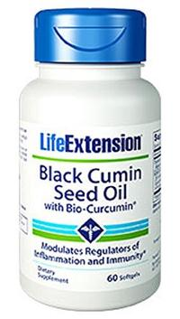 [USA Shipping] Life Extension Black Cumin Seed Oil with Bio Curcumin 60 Softgels