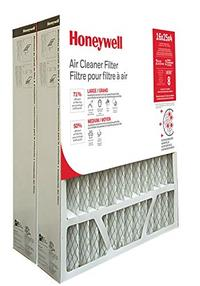 Honeywell Home CF408F1625 High Efficiency AC Furnace Air Filter 16 x 25 x 4 MERV 8 (2 pk)