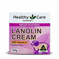 [USA Shipping] Healthy Care Natural Lanolin & Vitamin E Cream 100g made in Australia with one gift