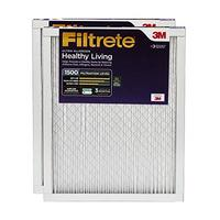 Filtrete 20x25x1 AC Furnace Air Filter MPR 1500 Healthy Living Ultra Allergen 2-Pack (Renewed)