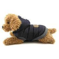 (smalllee_lucky_store) SMALLLEE_LUCKY_STORE Dog Fleece Jacket with Hood Winter Cotton Coat Puppy...