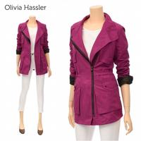 [Safari Jacket ck204] Olivia Hassler Big Pocket Cotton Blend Jumper_C3M2 Free Shipping