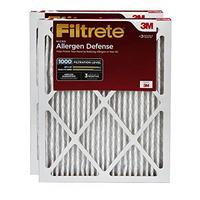 Filtrete 24x24x1 AC Furnace Air Filter MPR 1000 Micro Allergen Defence 2-Pack (Renewed)