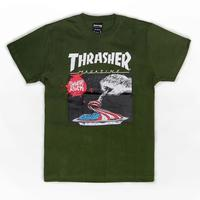 【HopesTaiwan】THRASHER EAT THE FLAG - OLIVE