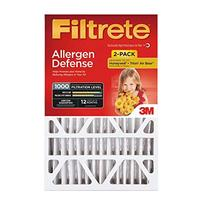 Filtrete 20x25x4 AC Furnace Air Filter MPR 1000 DP Micro Allergen Defense Deep Pleat 2-Pack (...