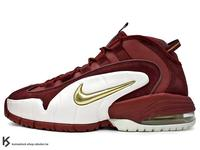 [27cm] 2018 NSW 超經典復刻 NIKE AIR MAX PENNY 1 HOUSE PARTY BURGUNDY 酒紅 金勾 PENNY HARDAWAY 專屬鞋款 MAGIC 魔術 (685153-601) !