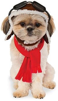 (Rubie s) Rubies Costume Company Pet Aviator Hat and Scarf Set-580222_M-L-PARENT ASIN