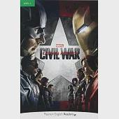Pearson English Readers Level 3: Marvel's Captain America: Civil War with MP3 Audio CD/1片