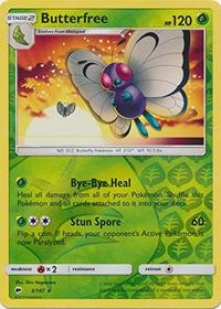 (Pokémon Company International) Butterfree - 3/147 - Rare - Reverse Holo - Sun & Moon: Burning Sh...