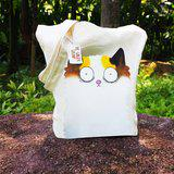 Spotted Ginger Cat Canvas Totebag