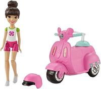 (Barbie) Barbie On The Go Vehicle & Doll White & Pnk Outift-FHV80
