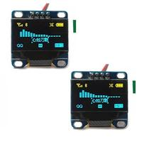 (DIYmall) Diymall 0.96 Inch Yellow and Blue I2c IIC Serial 128x64 Oled LCD Oled LED Module for A...