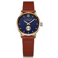 (VICTORIA HYDE) VICTORIA HYDE Women Second Hand Wrist Watch Gold Round With Blue Dial Quartz Wate...