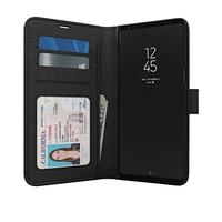 (Skech) Skech Polo Book Folio Clutch Wallet Protective Case for Samsung Galaxy Note 8 - Black-