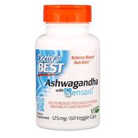 [iHerb] Doctor's Best Ashwagandha with Sensoril, 125 mg, 60 Veggie Caps