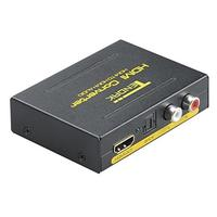 Tendak HDMI to HDMI and Optical TOSLINK SPDIF + Analog RCA L / R Stereo Audio Extractor Converter HDMI Audio Splitter Adapter(HDMI Input HDMI + Digital / Analog Audio Output) (Pack of 1) (Pack of 2)