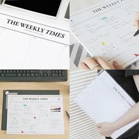100% Authentic] SEESO Weekly Times Note Pad for 30 Weeks - weekly planner scheduler office supplies