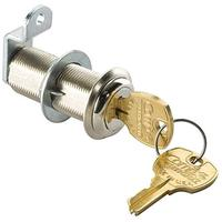 (Rockler Woodworking and Hardware) 1-3/4 Long Cylinder Lock - Nickel keyed differently-