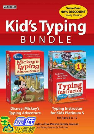 [7美國直購] 2018 amazon 亞馬遜暢銷軟體 Kid's Typing Bundle: Mickey's Typing Adventure with Typing Instructor for Kids Platinum 5