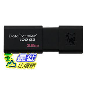 [106美國直購] Kingston Digital 隨身碟 32GB DataTraveler 100 G3 USB 3.0 Flash Drive, 2 Pack (KW-U713202-8A)