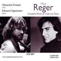 SAPHIR 克尼亞瑟夫(Alexandre Kniazev)/雷格:大提琴與鋼琴作品全集(Max Reger: Complete Works for Cello and Piano)【3CDs】