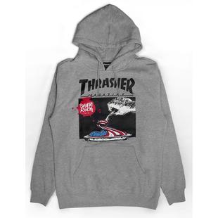 【HopesTaiwan】THRASHER EAT THE FLAG HOODIE - GRAY