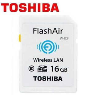 TOSHIBA 東芝 16GB FlashAir Wi-Fi SDHC W-03 無線傳輸 記憶卡