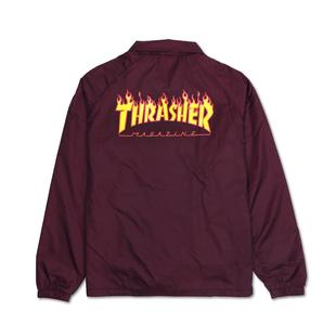 【HopesTaiwan】THRASHER FLAME COACH JACKET 教練外套- MAROON