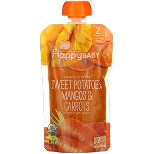 [iHerb] Happy Family Organics Organic Baby Food, Stage 2, Clearly Crafted, 6+ Months, Sweet Potatoes, Mangos & Carrots, 4 oz (113 g)