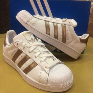 ADIDAS SUPERSTAR W 玫瑰金 金標 BA3169