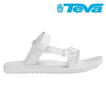 TEVA Universal Slide Patent Leather 白色亮面皮革涼拖鞋 女 TV1013652WHT